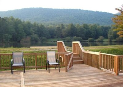 Forge Valley Event Center | Hendersonville, Brevard, Asheville | the porch at the cottage spacious for outdoor gatherings